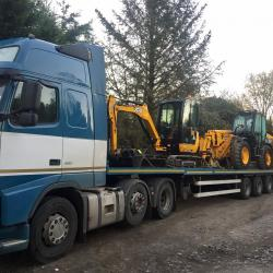 JCB Mini Digger & Telehandler for delivery, Cornwall